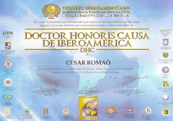 Doutor Honoris Causa de Iberoamérica, DHC
