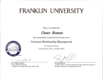 Curso de Extensão em Customer Relationship Management