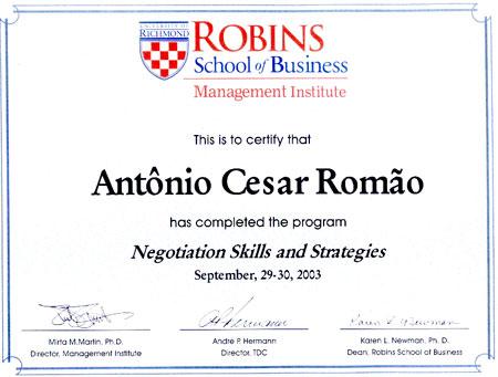 Curso de Extensão em Estratégias e Habilidades de Negociação