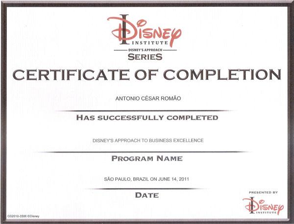 Curso de Extensão em Abordagem Disney para Excelência Empresarial