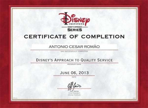Curso de Extensão em Abordagem Disney ao Serviço de Qualidade