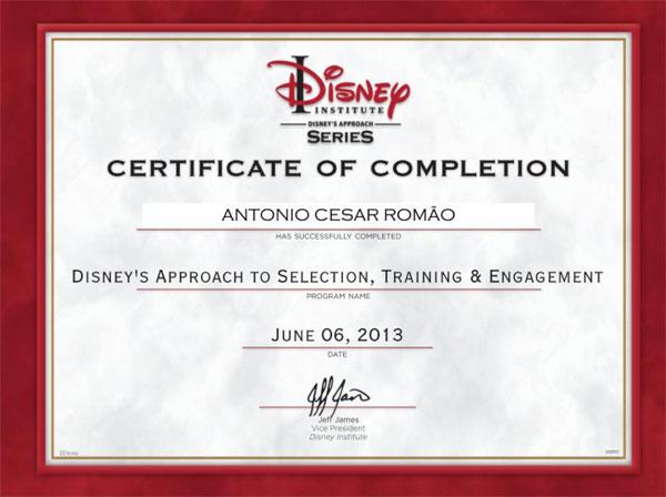 Curso de Extensão em Método Disney para Seleção e Treinamento